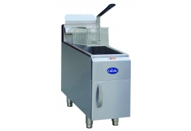 Globe GF15G 15 lb. Gas Countertop Fryer - Natural Gas