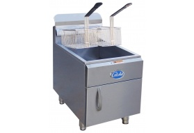 Globe GF30G 30 lb. Gas Countertop Fryer - Natural Gas