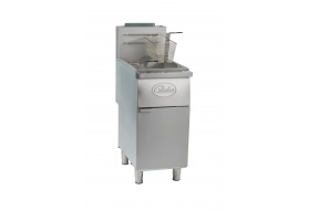 Globe GFF35G 35 lb. Gas Floor Fryer - Natural Gas