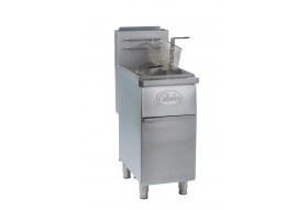 Globe GFF50G 50 lb. Gas Floor Fryer - Natural Gas