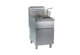 Globe GFF80G 80 lb. Gas Floor Fryer - Natural Gas